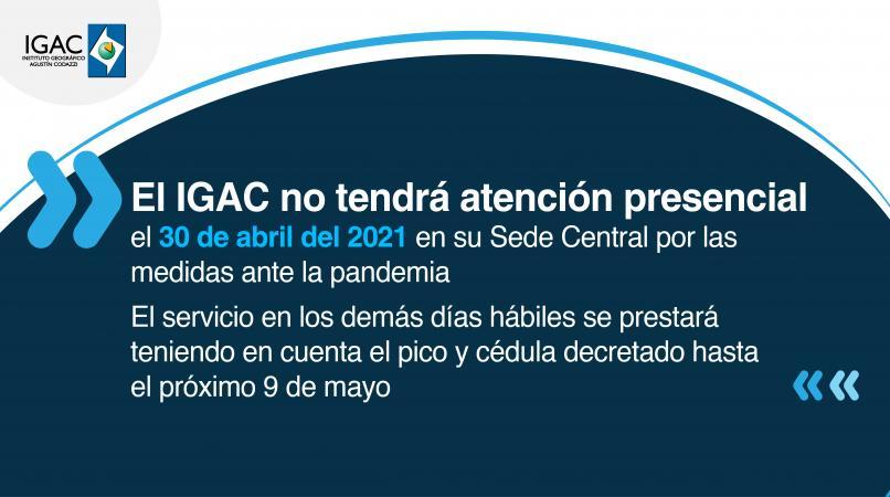 Atención al público abril 2021